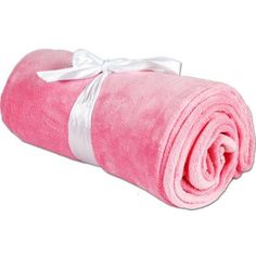 Threadart Super Soft Plush Fleece Blankets, 11 Colors available, 50 inch x 60 inch, Pink