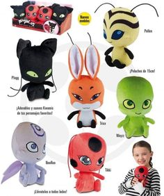 NEED🤩. But where is Duusu? They didn't made her plush😿 Miraculous Song, Miraculous Ladybug Toys, Barbie Doll Set, Baby Alive, Plushies, Diy Gifts, Cartoon, Crafts, Toddler Sofa