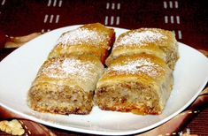 diós rétes stories and pictures at blikkruzs. Sweet Cookies, Cake Cookies, Romanian Food, Hungarian Recipes, Strudel, Food Cakes, Sweet Memories, Childhood Memories, No Bake Desserts