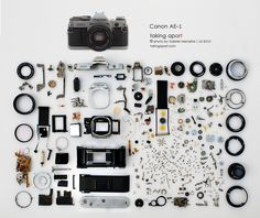 Taking apart | Photographs of vintage Product Taken Apart took by the photographer Gabriel Menashe.