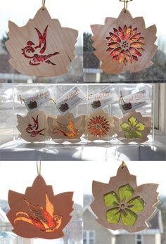These Sun Catchers are awesome! Showing the fall leaf colors, great gift idea for anyone, he'll even do custom work!