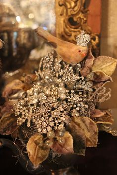 Romancing the Home: Wedding Reception Preparation Continues - Making Rhinestone Bouquets