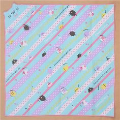 colorful cat stripe dot food cloth from Japan 2
