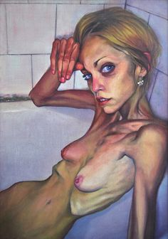 Milan Nenezic - Portrait of Marina Markovic, 2009, oil on canvas, 70 x 50 cm