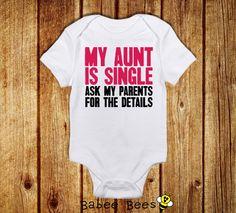 hahahaha jk jk jkFunny Baby Bodysuit New Aunt Gift Aunt and Niece Aunt by BabeeBees