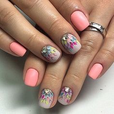 Диалоги Nail Polish Designs, Cool Nail Designs, Nail Manicure, Diy Nails, Love Nails, Pretty Nails, Spring Nails, Summer Nails, Feather Nails