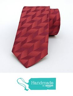 "Red stripes men's tie 6 cm (2,36"") DK-387 from Nazo Design… #handmadeatamazon #nazodesign"
