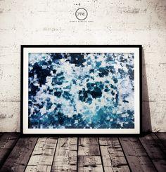 Abstract Ocean Print, Ocean Art, Ocean Waves Wall Art , Ocean Water, Beach and Coastal Decor, Photography, Blue Art, Modern Glitch Pattern by JerseyVintageCool on Etsy https://www.etsy.com/listing/500295450/abstract-ocean-print-ocean-art-ocean