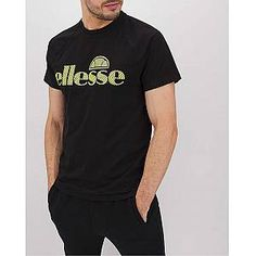 ellesse Caranna T-Shirt Regular Ellesse, Sports Brands, Retro Look, Saved Items, Sport T Shirt, Off Duty, Long Black, Short Sleeves, Search