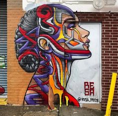 Street Art by Resa Piece found in Brooklyn, NYC. #StreetArt #Graffiti #Mural