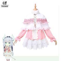 Rolecos new anime kobayashi san chi không có maid rồng cosplay trang phục bỏ lỡ kobayashi của rồng maid kanna kamui cosplay trang phục