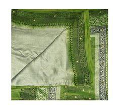 Indian Saree Vintage Dress Up Games Art Silk Craft DIY Recycled Fabric Paisley Printed Drape Sari Used 5Yd Grey Wrap Decor Women Sarong Dress