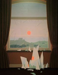 likeafieldmouse:  Rene Magritte- Le Soir qui Tombe (1964)