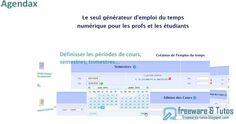 Agendax : un générateur d'emploi du temps hebdomadaire numérique