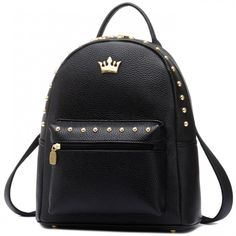 Finally! I found the Leisure Lady Rucksack Punk Crown Rivet PU School  Backpack from ByGoods.com. I like it so so much! 4e0ac1ec89e