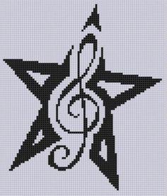 Music Star 3 Cross Stitch Pattern | Craftsy