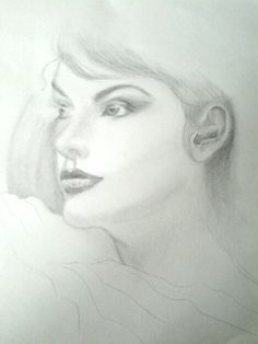 Drawing in preparation for my mixed-media applications. There is still that irresistible allure of simply sketching in graphite! By Rhue Chantal.