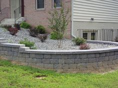 Rounded retaining wall ideas