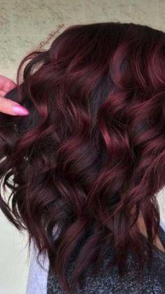Fall Hair Color For Brunettes, Hair Color Dark, Cool Hair Color, 2 Tone Hair Color, Hair Color Ideas For Dark Hair, Peacock Hair Color, Black Cherry Hair Color, Hair Colour, Hair Ideas