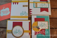 Love these alternative uses of the pieces in the August My Paper Pumpkin kit.