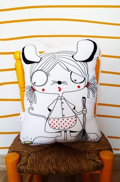 SHAPED PILLOW    The little mouse   Shaped cushion toy   Soft toy   Kids Home Décor   Handmade Pillow   Pillows for kids bedroom by KoCcos on Etsy