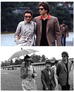 Audrey Hepburn and her sons in Japan, 1983.