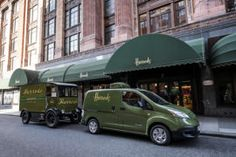 100 percent Electric Nissan e-NV200 Returns Iconic Harrods Delivery Fleet In London To Its Early Electric Roots