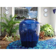 Asian Fountain Planters   Glazed Planter Fountain / G0207 B