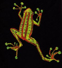 Frog TShirt Hand Painted TShirt Unisex by DecadentAndFabulous, £14.00