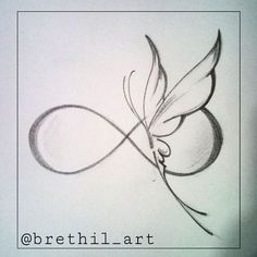 infinity and butterfly tattoo - Google Search