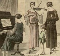Lady Playing Violin group of women in 1920s ...