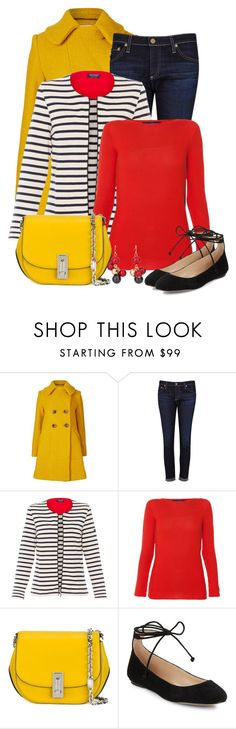 """""""Untitled #6340"""" by cassandra-cafone-wright ❤ liked on Polyvore featuring Orla Kiely, AG Adriano Goldschmied, Saint James, Les Copains, Marc Jacobs, Karl Lagerfeld and Chico's"""