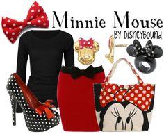 Minnie Mouse outfit by Disney Bound Disney Themed Outfits, Disney Bound Outfits, Disney Style, Disney Love, Disney 2015, Walt Disney, Disney Inspired Fashion, Disney Fashion, Fashion 101