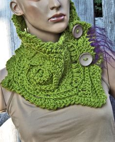 Designer Crochet Scarf for Women Crochet cowl Neck Warmer