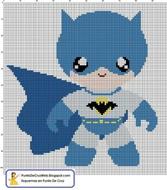 Baby Batman and other characters, in Spanish, but easy to figure out.