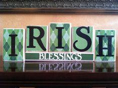 St Patricks Day home decor  Wood Irish by WoodnExpressions on Etsy, $24.00