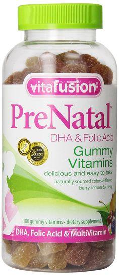 Amazon.com: Vitafusion Prenatal DHA and Folic Acid Gummy Vitamins, 180 Count: Health & Personal Care