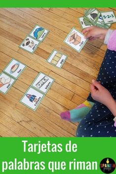 Rhyming cards in Spanish. For students learning how to rhyme in Spanish in dual language o Spanish immersion class. Set of 54 rhyming pairs for students to use in centers, as a writing activity or a compliment to your lesson on rhymes.  Fichas (o tarjetas
