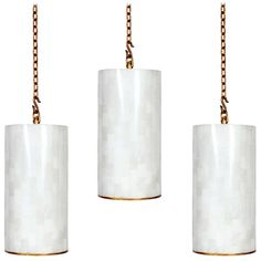 3 Custom Gilt Iron and Marble Pendant Lights, Sold Individually   From a unique collection of antique and modern chandeliers and pendants  at http://www.1stdibs.com/furniture/lighting/chandeliers-pendant-lights/