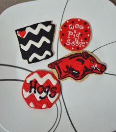 Arkansas Razorback Cookies By Sweetlildelights On Etsy 25 00