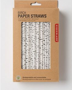 Paper straws are a must for fall! Get them here: http://www.bhg.com/shop/anthropologie-canadian-birch-straws-p520be5bbe4b0fa3688534933.html