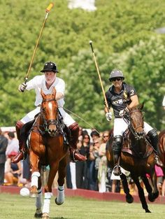 Nacho Figueras, Argentinian Polo Player and Ralph Lauren model, plays prince Harry in a match.
