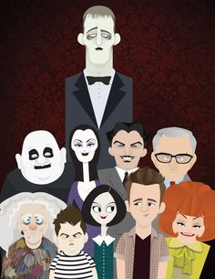 Cast of the Addams Family by Kevin Harris.