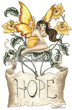 Amy Brown Hope Print 8.5x11 open edition print, SIGNED. @14.00