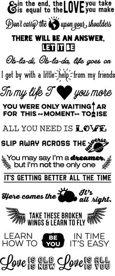 You Probably Need These Amazing Beatles Lyrics Stair Decals                                                                                                                                                                                 More