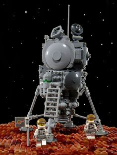 Lander Training - Mars | by aardwolf_83 Lego Space Station, Kerbal Space Program, Lego Figures, Lego Stuff, Character Modeling, Legoland, The Martian, Lego Creations