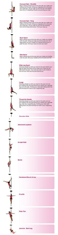 Pole Dancing Moves : Beginner, Intermediate and advanced Moves (Spins, Poses, Floor-work, Slides and Climb). ........ Pole dancing is a great form of exercise and can be used as both an aerobic and anaerobic workout. Jasmine Grace, pole dancing professional, put together this tutorials to educate self-taught pole dancing ....... :) #PoleDancingFitness #PoleDancingPareja