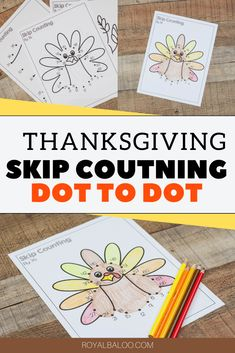 Make Skip Counting fun with this Thanksgiving themed Skip Counting Dot to Dot printable set.