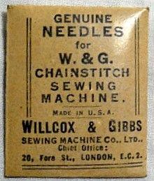 Willcox & Gibbs needles