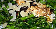 Tasting Pour: Winter's Hill Vineyard Pinot Blanc + Warm Asparagus, Arugula, Bacon Salad #winepw